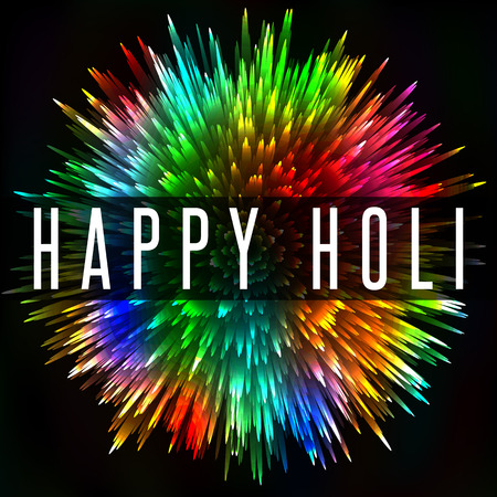 gulal: Happy Holi Indian spring festival, colorful splash greeting poster background