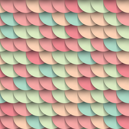 versicolor: Pastel shades circles geometric shape multicolored seamless pattern, varicoloured background, mockup wrapping cover decoration design element