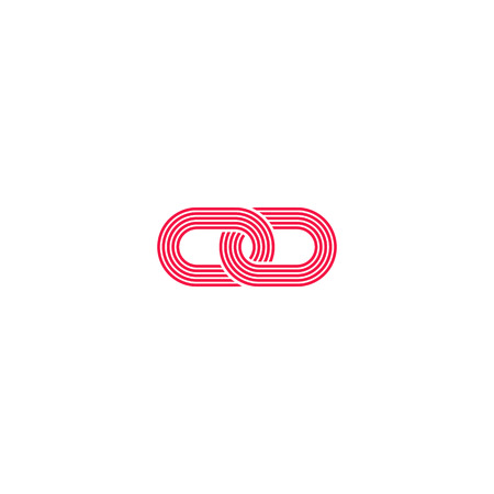 loops: Link , intersection chain links abstract infinity symbol, idea  media communication emblem, loops simple geometric