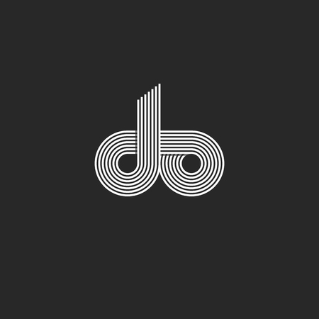 Do letters monogram d o initials business card branding emblem do letters monogram d o initials business card branding emblem mockup black and white overlapping thin colourmoves