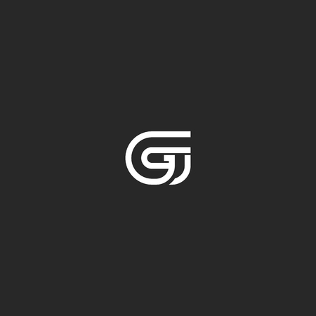 initial: G letter monogram typography design element template.