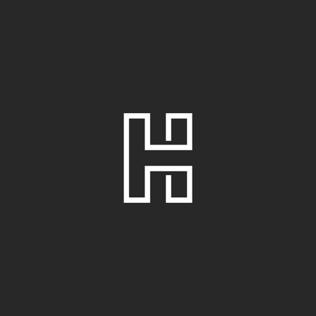 Letter H icon monogram Illustration