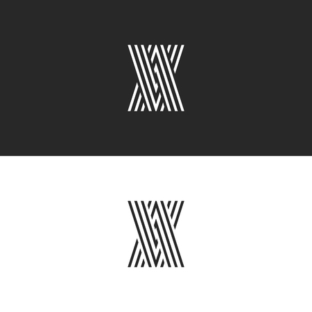 Initials logo VA letters monogram, overlapping parallel thin lines creative identity AV emblem, combination two letters A V, direction arrows icon
