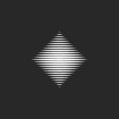 Rhombus   hypnotic destroyed geometric shape, fascinating mystical design element template Ilustração