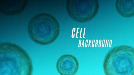 Macro cell biology realistic background, viruses or microorganisms under the microscope, vector medical illustration for cytology science.