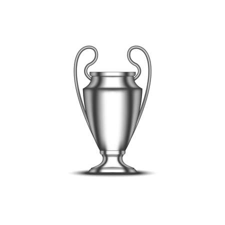 UEFA Champions League Cup football trophy realistic vector 3d model isolated on white background
