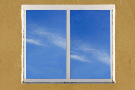 Image of window in the wall of  house Stock Photo - 4370372