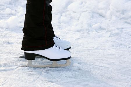 a skates on a skating-rink Stock Photo - 4370380