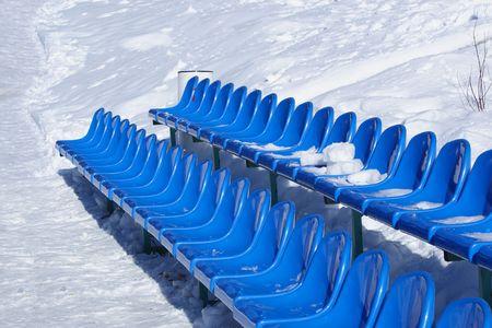 tribune: tribune of a winter stadium