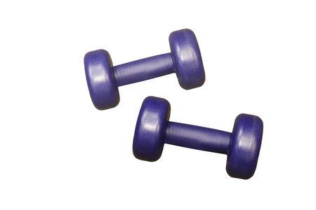 kilograms: pair gyms under the white background Stock Photo