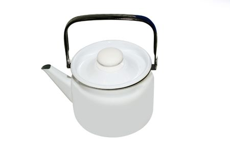a kettle under the light background photo