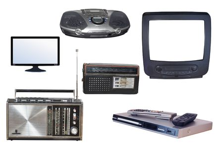 Different kinds of radio and TV devices photo