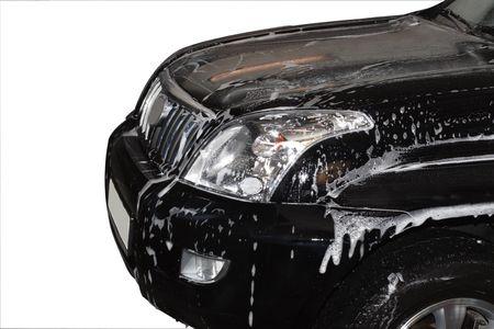 Car washing at the car wash