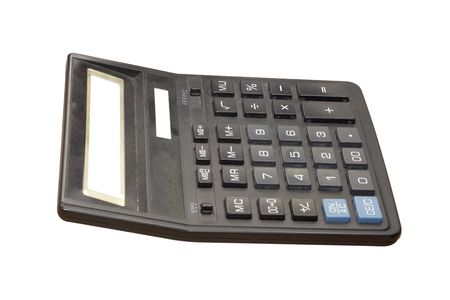 maths department: calculator under the white background