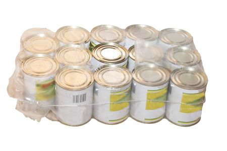 tinned food under the light background Stock Photo - 4567899