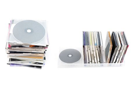cdrom: CD disks in the box and in the pile