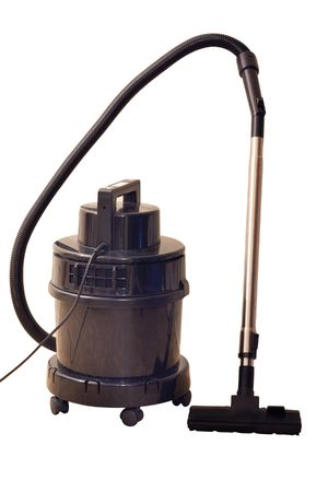 vacuum cleaner under the white background Stock Photo