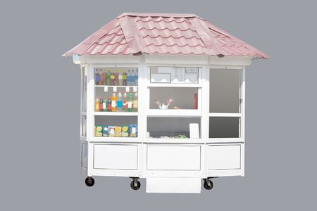kiosk under the grey background Stock Photo - 4779256