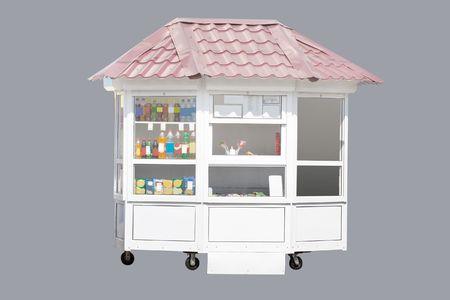 kiosk under the grey background Stock Photo - 4779256