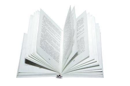 Einbuchtung: Das offene Buch unter dem wei�en Hintergrund Lizenzfreie Bilder