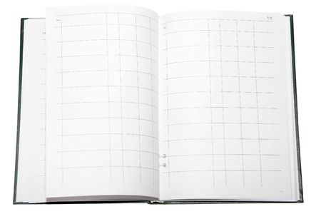 an account book under the white background photo