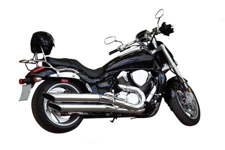 helmet seat: motorcycle under the white background Stock Photo