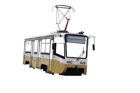 tramway:  tramway under the white background