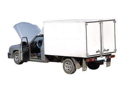 van  under the white background Stock Photo - 4903992