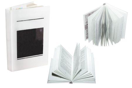 oldened: several books under the white background