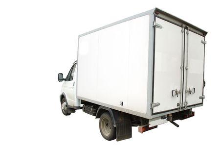 van under the white background Stock Photo