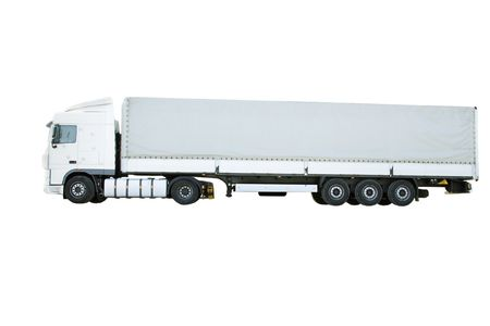 side views: truck under the white background Stock Photo