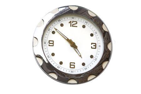 clock under the white background photo