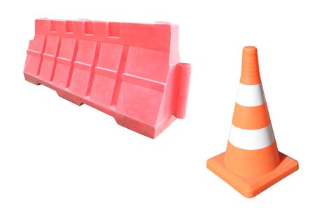 road barriers under the white background Stock Photo - 5255617