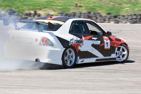 Racing car during the race Stock Photo - 5255685