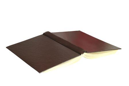 bibliomania: open book under the white background