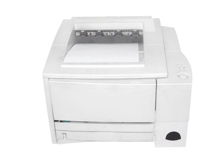 printer under the white background Stock Photo - 6125494