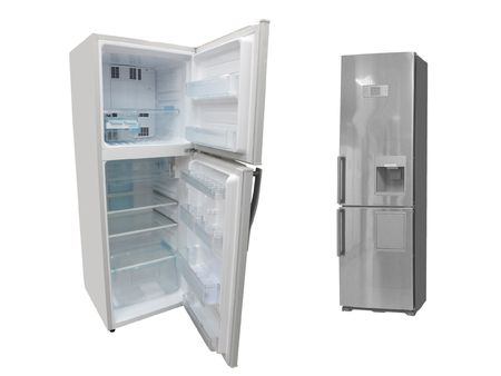 The image of refrigerators under the white background photo