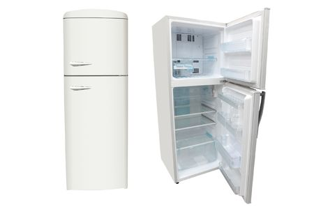 The image of refrigerators under the white background  Stock Photo - 6342582