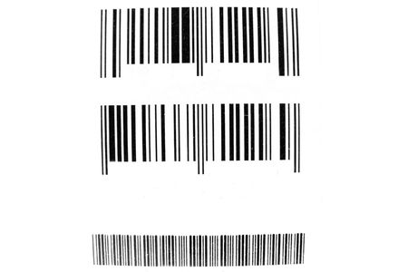 bar codes: The image of bar codes under the white background