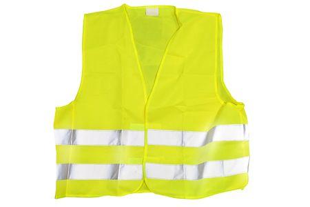 emergency vest: he image of reflective jacket under the white background