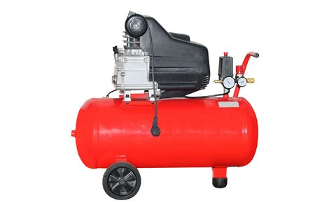 compressore: The image of air compressor under the white background Archivio Fotografico
