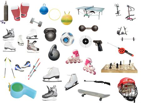 image of different kinds of sport equipment Stock Photo - 6421215