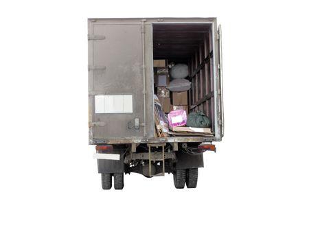 camioneta pick up: La imagen de un cami�n se sit�a en la descarga