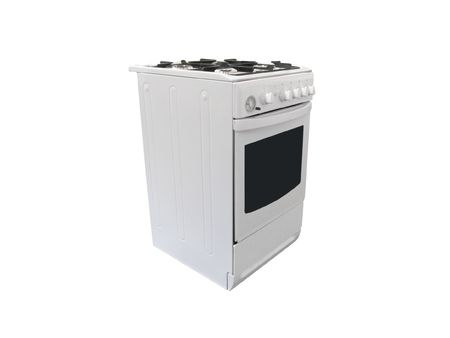 gas cooker under the white background Stock Photo - 6461788