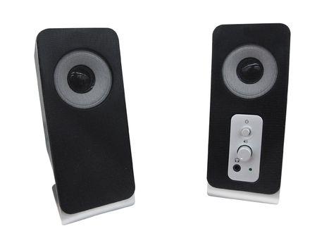 dolby: speaker under the white background Stock Photo