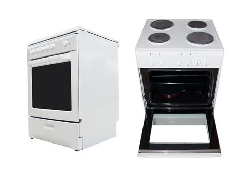 electric stove: The image of electric stove under the white background  Stock Photo