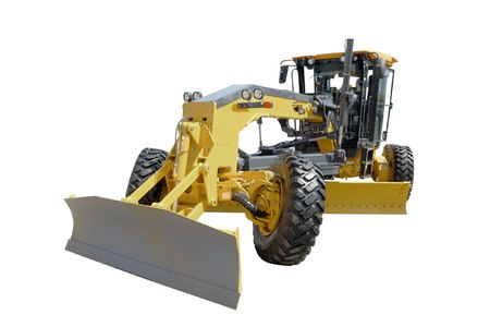 The image of grader under the white background photo