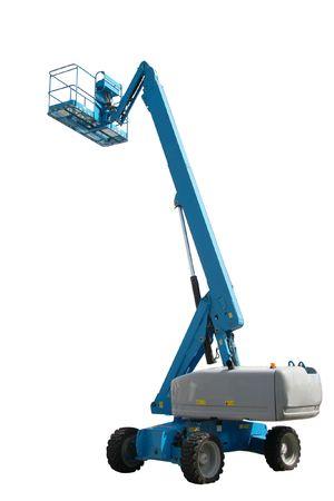 The image of lifting machine under the white background photo
