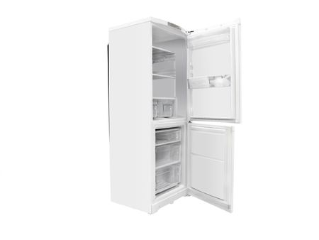 The image of open refrigerator under the white background Stock Photo - 7471459