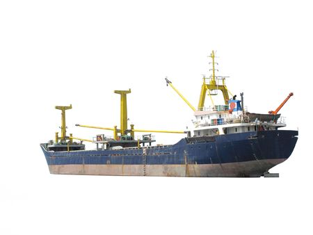 loading cargo: The image of cargo ship under the white background